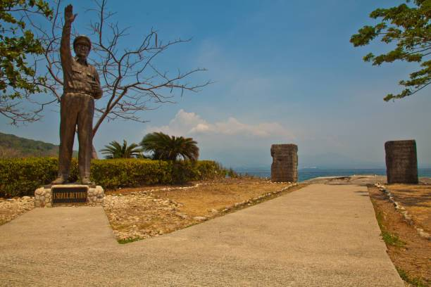 Corregidor Island, Philippines 19 April 2011 Gen. Douglas MacArthur Park has a life-size bronze statue of the general which was erected in his honor. His notable message ? I Shall Return? is engraved in a concrete marker