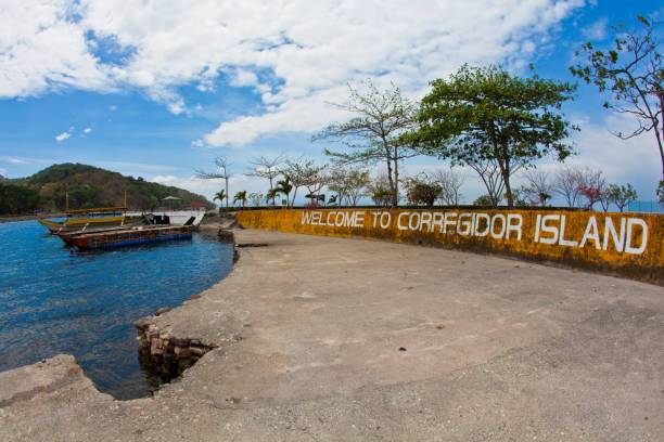 Corregidor Island, Philippines 20 April 2011 Pump boats inside the Corregidor Island Harbor