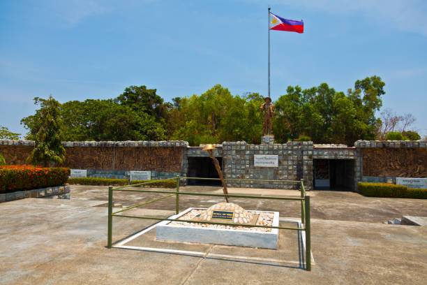 Corregidor Island, Philippines 19th April 2011  Filipino Heroes Memorial is amongst the latest landmarks in Corregidor which honors the courage of Filipino heroes in their struggle for Philippine sovereignty. It features 14 murals which portray diverse scenes in Philippine history
