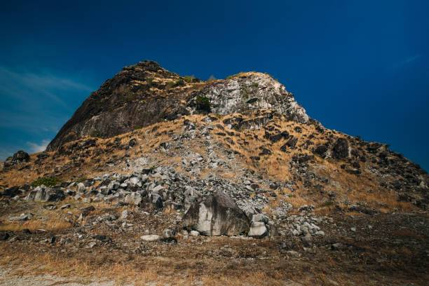 Unique rocky hill in Sisiman bay as famous spot for local tourist